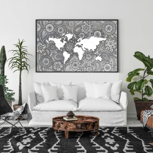 World Map Print - Quote 18