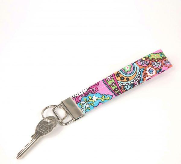 Paisley Wristlet Key Chain