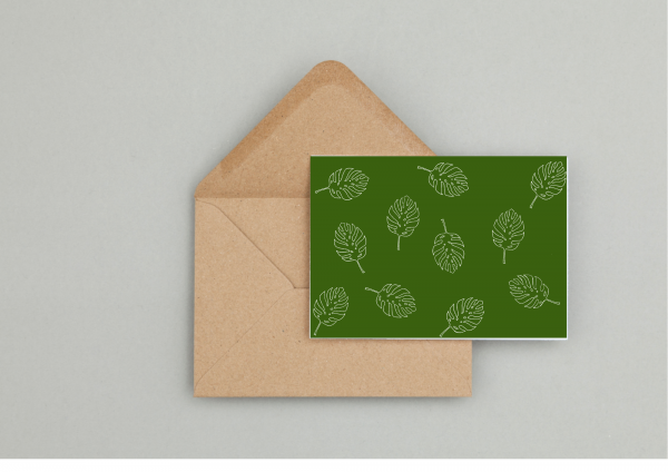 Leaf Gift Wrapping and Card Set - Seaside Card 1