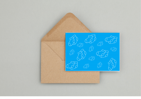 Baby Boy Gift Wrapping and Card Set - Seaside Card 3