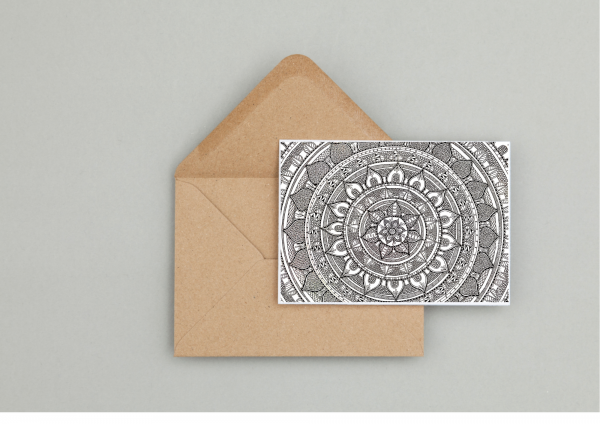 Mandala Gift Wrapping and Card Set - Seaside Card 5