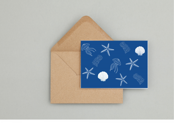 Seaside Gift Wrapping And Card Set - Seaside Card