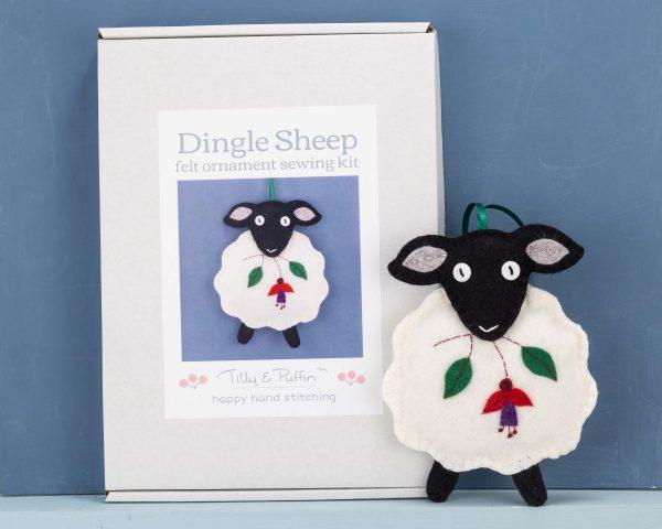 Dingle Sheep Felt Ornament Sewing Kit - Sheep box sample