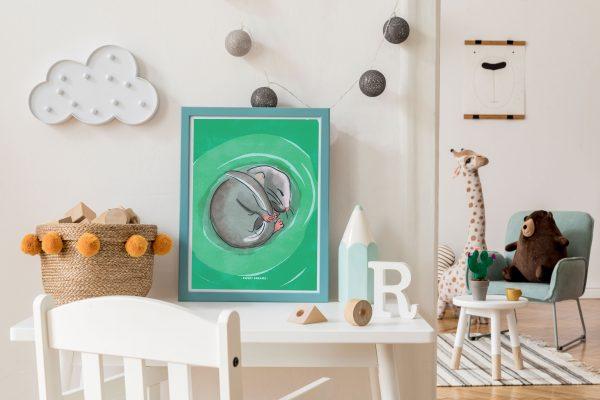 Sweet Dreams A4 Print - Sweet dreams in frame