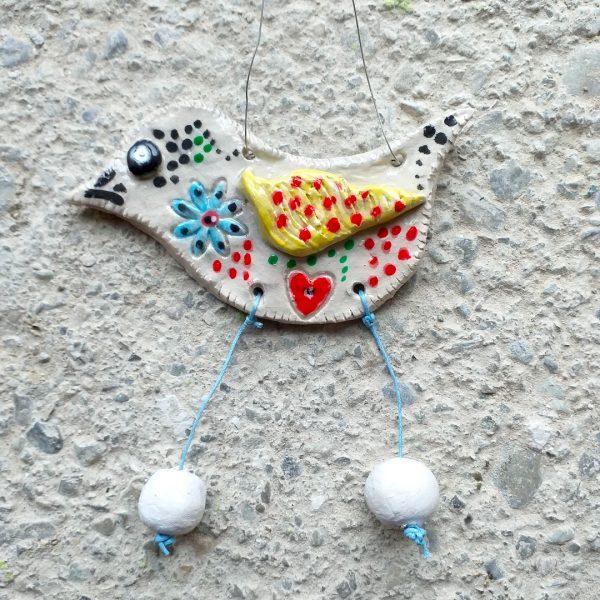 Bird Ceramic Wall Hanging Ornament