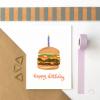 Burger Happy Birthday Card - birthday burger new writing 3