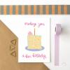 Confetti Cake Birthday Card