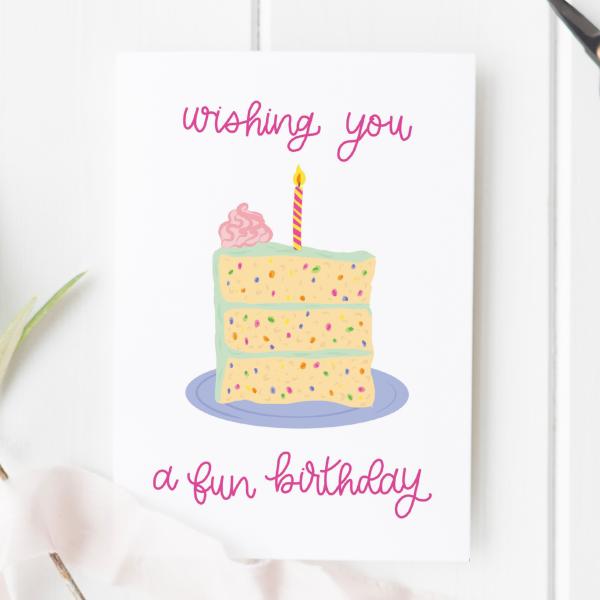 Confetti Cake Birthday Card - funfetti cake 2