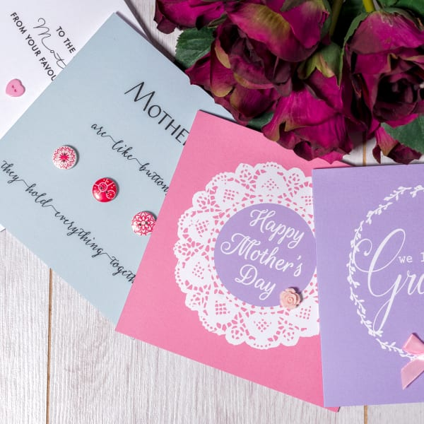 Button Mother's Day Card - mothers day range 2019