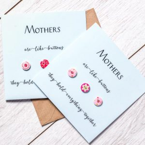 Button Mother's Day Card