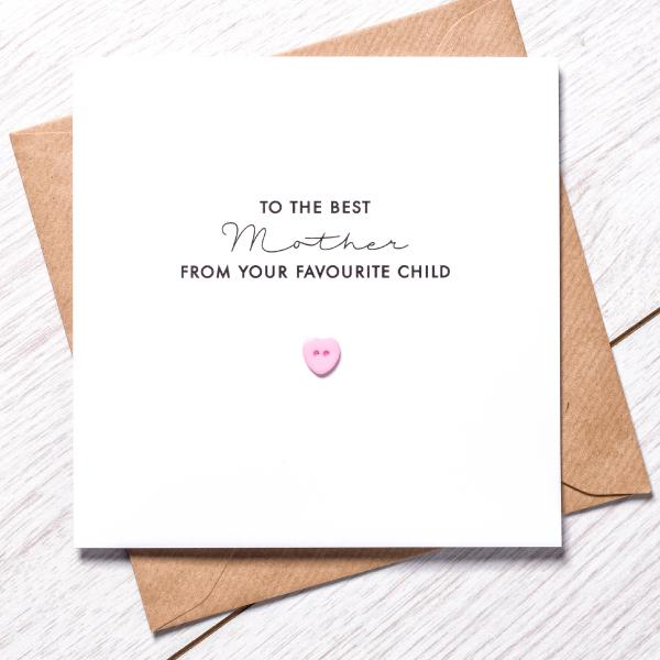 Favourite Child Card - mothers day range fav