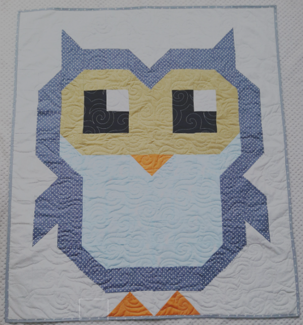 Cute Owl Quilt New Baby Gift