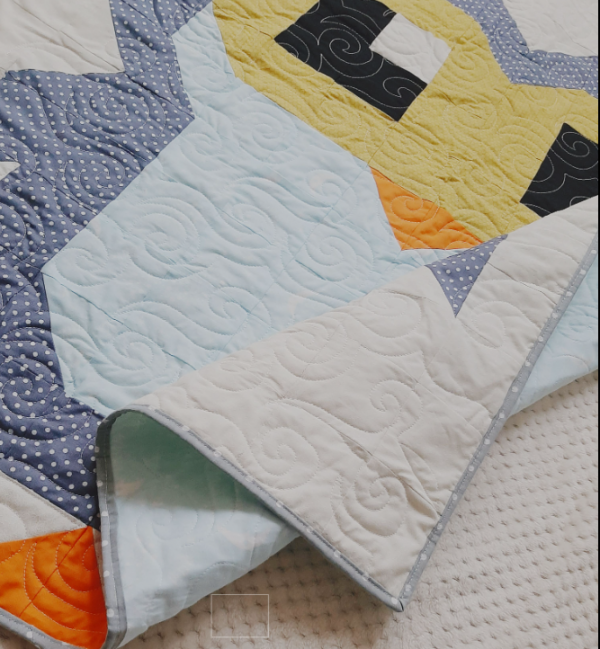Cute Owl Quilt New Baby Gift - owlquilt2