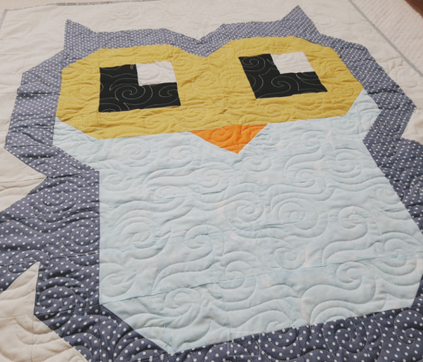 Cute Owl Quilt New Baby Gift - owlquilt4