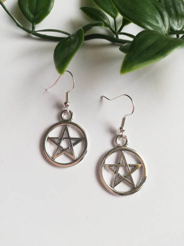 Pentagram Earrings - this