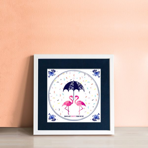 Rain is just Confetti from the Sky Art Tile - workingdocument singleframed confetti