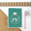 Yay! Illustrated Engagement Ring Card - yay ring new mockup 2