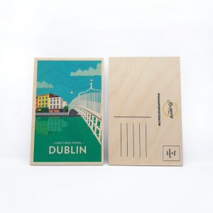 Greetings From Dublin - Wooden Postcard