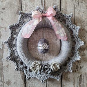 Handmade Crochet Easter Wreath
