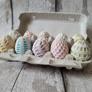 Handmade Crochet Easter Eggs Decoration Set of 10