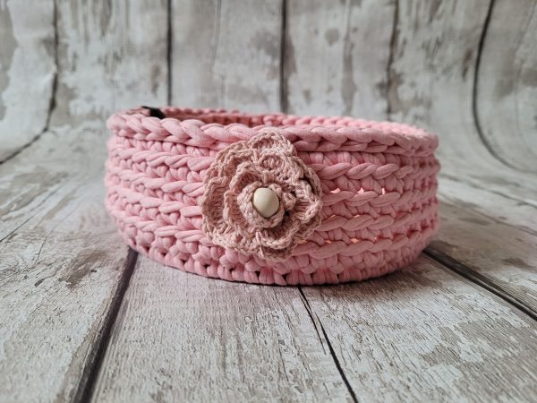 Sturdy Crochet Baskets with Wooden Base - 20210222 155048