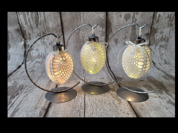 Led Easter Egg Bauble Ornament on a Metal Stand - 20210303 153340