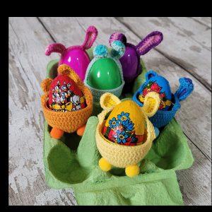 Handmade Crochet Hunt Easter Eggs Set of 6