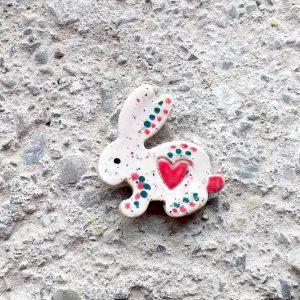Rabbit shaped fridge magnet