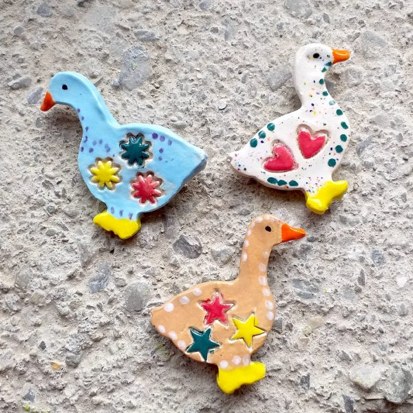 Goose shaped fridge magnets