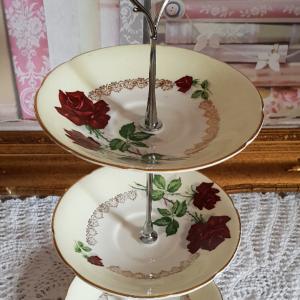 Vintage Bone China Mini Tea/Cake Stand