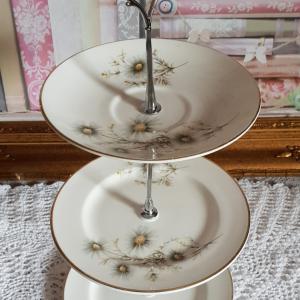 Vintage Bone China Mini Tea/Cake Stand: Royal Grafton