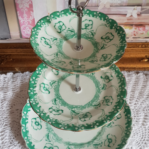 Vintage Bone China 'Midi' Tea/Cake Stand: Queens China