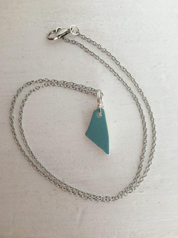 Simplicity - Sea Pottery & Silver necklace - 2468E70B D9E8 4EE8 873F A7C3B9C566CA rotated
