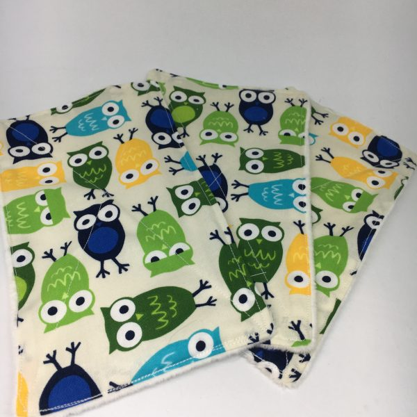 Reusable Wipes Large Owls