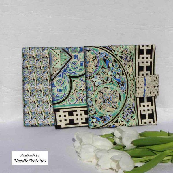 Cotton eReader Cover- Circular Celtic Design - 2A NeedleSketches 48 Kindle Covers