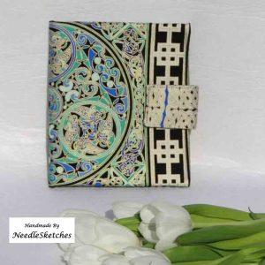 Cotton eReader Cover- Circular Celtic Design