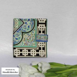 Cotton eReader Cover- Geometric Celtic Design
