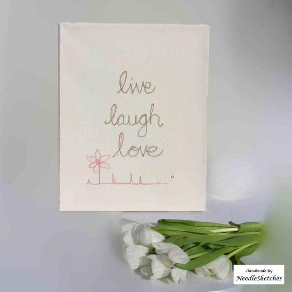 Live Laugh Love On Canvas