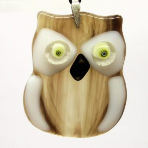 Fused-Glass Baby Owl Suncatcher - 430