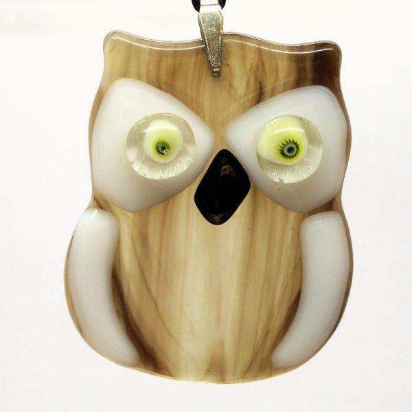 Fused-Glass Baby Owl Suncatcher - 430