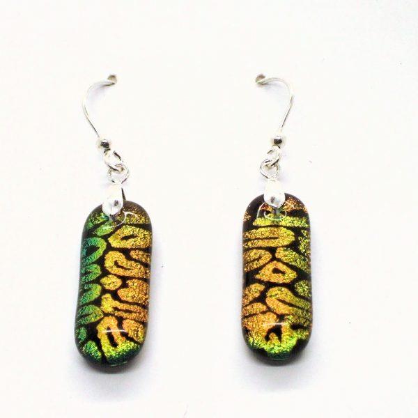 Fused-Glass Drop Earrings - 439 - 439a