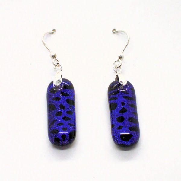 Fused-Glass Drop Earrings - 442 - 442b