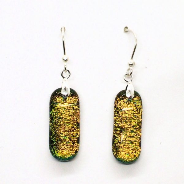 Fused-Glass Drop Earrings - 444 - 444a