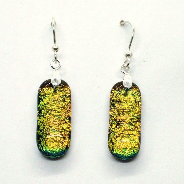 Fused-Glass Drop Earrings - 444