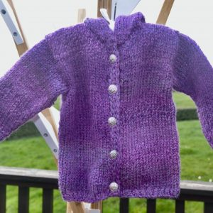 Little Heather Knitted Hooded Jacket