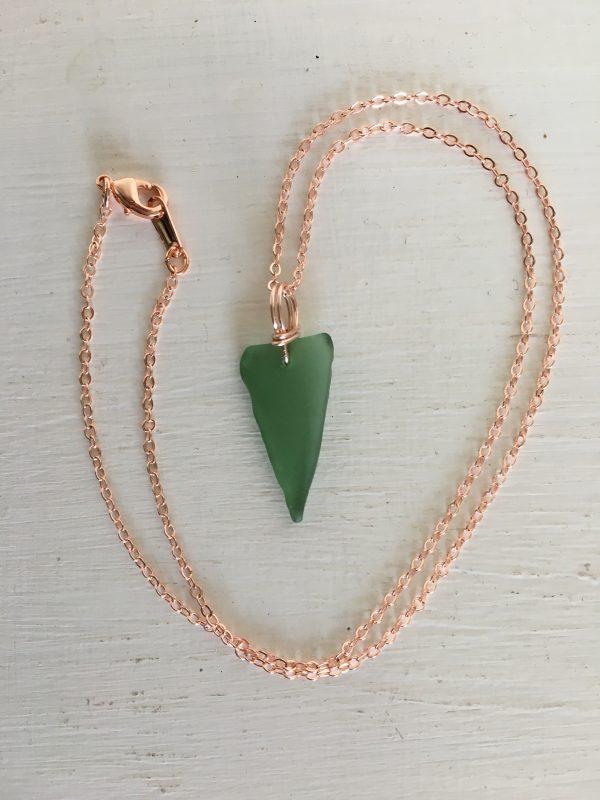 Simplicity - Green Sea Glass & Rose Gold necklace - 65DA00BE 246C 4AD8 AAE4 72FD4258EAE8 rotated