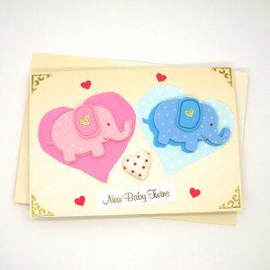 Handmade 'Baby twins' Card - 711