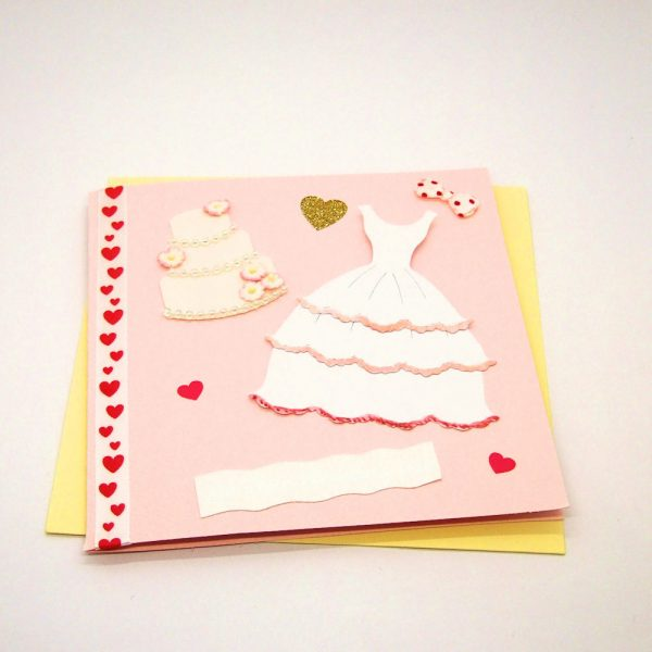 Handmade Wedding Card - 716 - 716b
