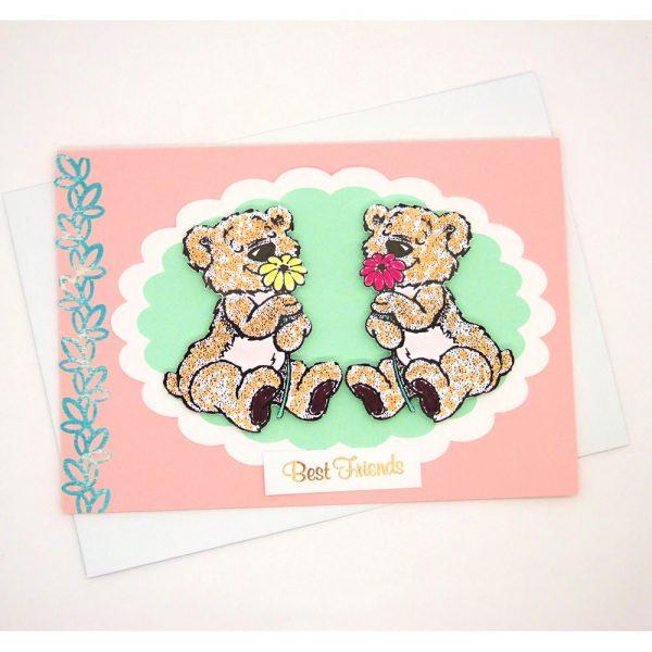 Handmade 'Best friends' Card - 727 - 727a
