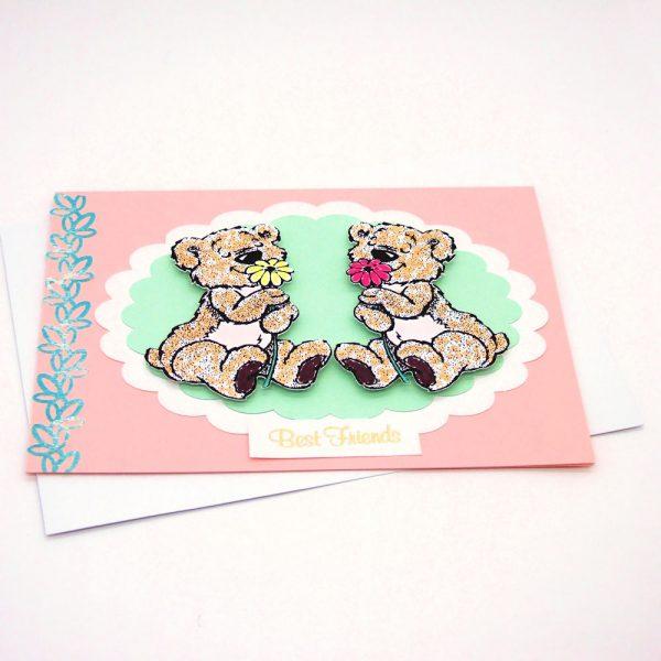 Handmade 'Best friends' Card - 727 - 727b